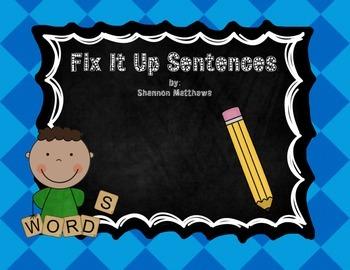 Fix It Up Sentences