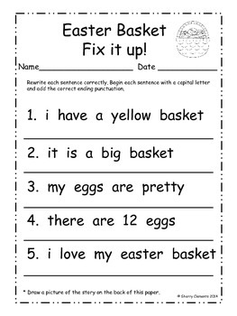 Easter Fix It Up Sentences