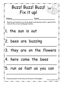 easter fix it up sentences by sherry clements teachers pay teachers. Black Bedroom Furniture Sets. Home Design Ideas