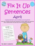 Easter Fix It Up Sentences Distance Learning