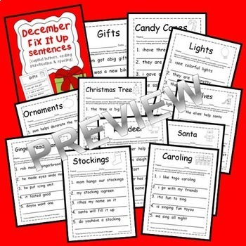 Fix It Up Sentences BUNDLE