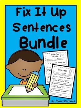 Fix It Up Sentences BUNDLE