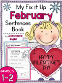 Fix It Up Sentences Book for February (Capitals, End Punctuation and Commas)