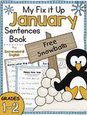 January Fix It Up Sentences (Capitals, End Punctuation and