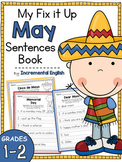 Fix It Up Sentences Book for May (Capitals, End Punctuation and Commas)
