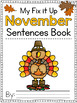 Fix It Up Sentences Book for November (Capitals, End Punct