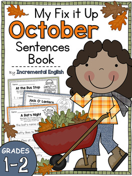 fix it up sentences book for october capitals end punctuation and commas
