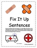 Fix It Up Sentences Distance Learning