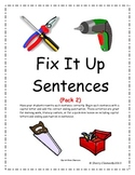 Fix It Up Sentences (Capital Letters and Ending Punctuation): Pack 2