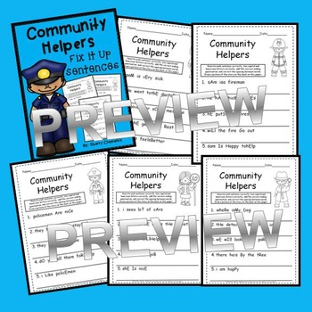 Fix It Up Sentences (Community Helpers)