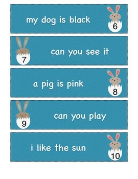Fix It Up! Write The Room Sentences (Easter Themed)