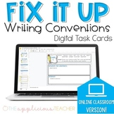 Fix It Up Writing Convention Digital Task Card Distance Learning