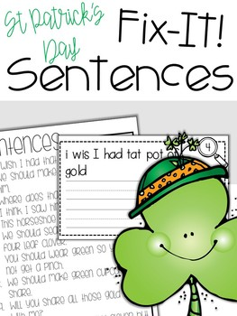 Fix-It! Writing Sentences (St. Patrick's Day Edition)