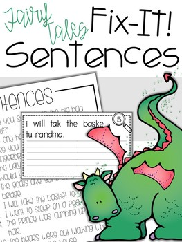 Fix-It! Writing Sentences (Fairy Tale Edition)
