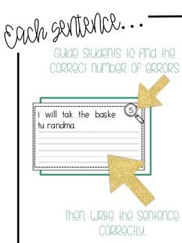 Fix-It! Writing Sentences (Fairy Tale Edition)