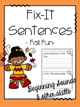 Fix-It! Writing Sentences (Fall Fun Edition)