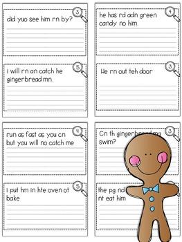 Fix-It! Writing Sentences (Gingerbread Edition)