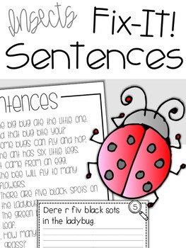 Fix-It! Writing Sentences (Insects Edition)