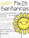 Fix-It! Writing Sentences (Summer Edition)
