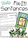 Fix-It! Writing Sentences (Plants Edition)