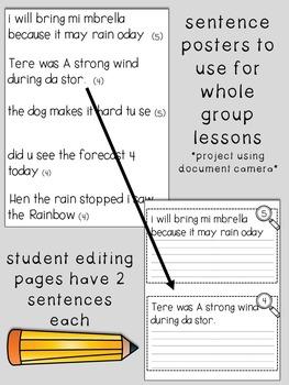 Fix-It! Writing Sentences (Weather Edition)