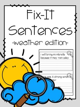 Fix-It! Writing Sentences (Weather Edition)