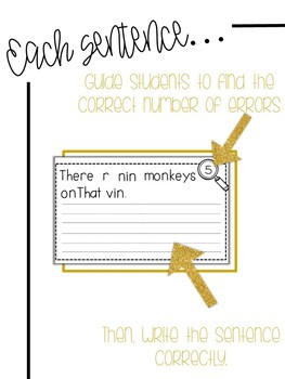 Fix-It! Writing Sentences (Zoo Animals Edition)