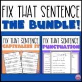 Fix That Sentence Bundle - Punctuation and Capitalization