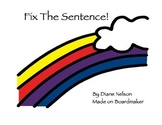 Fix It Up! Fix The Sentence Work On Writing!