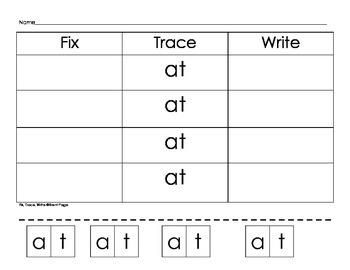 Fix, Trace, Write Sight Words Activity Bundle