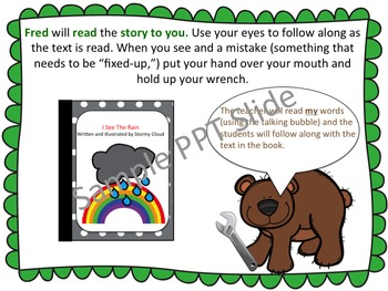 Fix Up Bear - reading comprehension strategy teaching unit - beanie baby