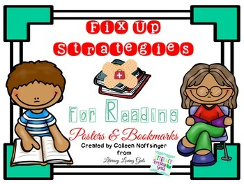 Fix-Up Reading Strategy Posters and Bookmarks