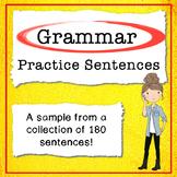 Grammar Practice (Morning Work) Free Sample