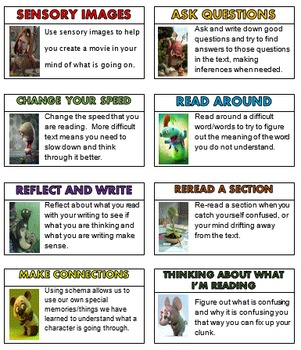 READING STRATEGIES - Fix-Up Strategies (Creature Theme) -