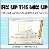 Fix Up the Mix Up: Sentence Writing Practice