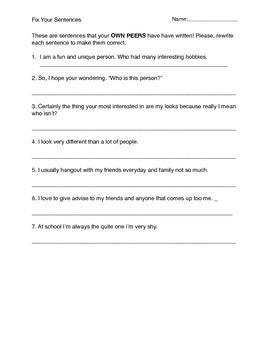 Fix Your Sentences