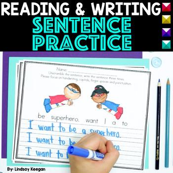 Fix it! Read it! Write it! - Sentence Unscramble Writing Practice