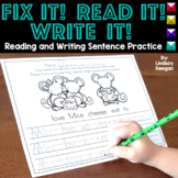 Fix it! Read it! Write it! - Sentence Writing Practice | D