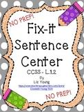 Fix-it Sentence Center CCSS L.1.2