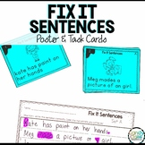 Fix it Sentences for 1st Grade ELA Center Activities: Grammar Task Cards