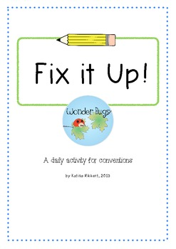 Fix it Up! A daily conventions activity