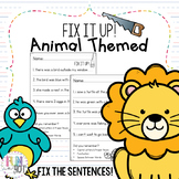 Fix it Up: Correct the Sentences for 1st and 2nd grade!