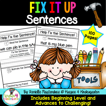 Fix it Up Sentences-Grammar, Writing, Sight Words & More! ~100 Pages~