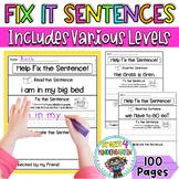 Fix it Up Sentences-Grammar, Writing, Sight Words & More!