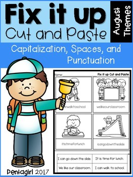 Fix it up Cut and Paste: Capitalization, Spaces, and Punctuation August