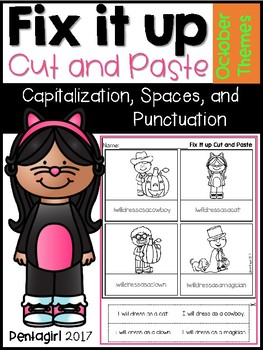 Fix it up Cut and Paste: Capitalization, Spaces, and Punctuation October