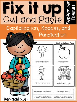 Fix it up Cut and Paste: Capitalization, Spaces, and Punctuation September