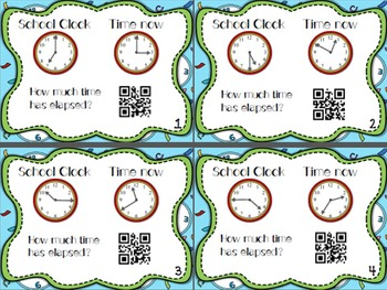 Fix the Clocks! Telling Time/Elapsed time Task Cards w/ QR Codes
