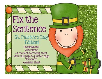 Edit Around the Room: St. Patrick's Day Leprechaun Edition! Editing!