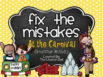 Fix the Mistakes At the Carnival Grammar Activity